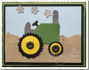 tractor punch art card