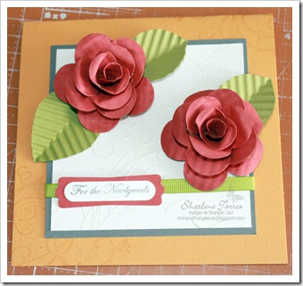 roses wedding card