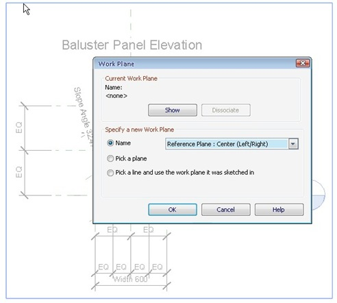 Selecting Revit Workplane