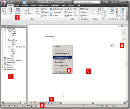 revit 2010 interface
