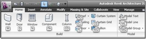 Revit Architecture 2010 Ribbon