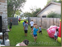 Pick up Football game (Removed fence panel in background)