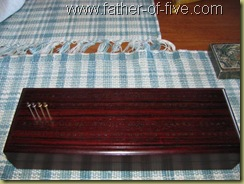 EJH Woodworking cocobolo cribbage board