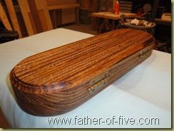 EJH Woodworking Zebrawood cribbage board