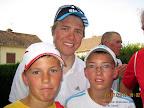 Florentin et Jordan avec Edvald Boasson Hagen du Team Sky à Gueugnon