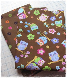 fabric 2 owls