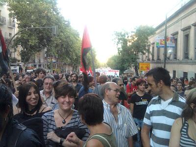 Manifestación CGT, hacia atrás.