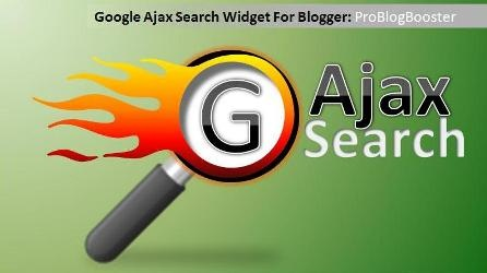 Google Ajax Search Widget For Blogger