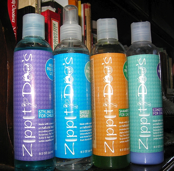 Zippity Doo's a line of children's hair care products to prevent lice