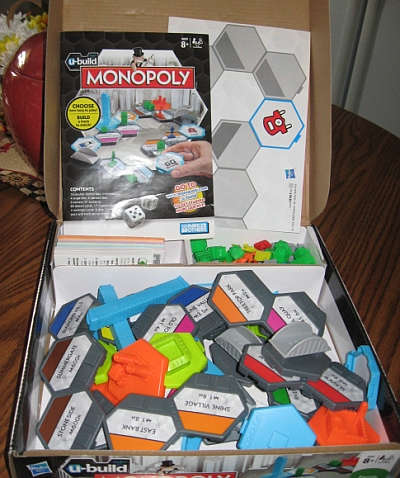 Unassembled U-Build Monopoly game