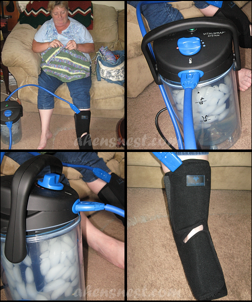 Mom wearing the Ankle VitalWrap accessory for foot and ankle pain