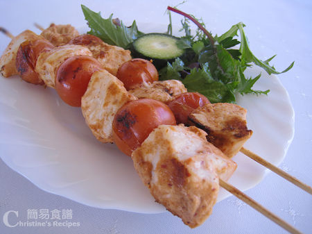 串燒咖喱雞肉 Chicken Tikka Skewers