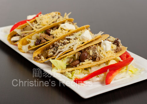 Mexican Chilli Beef and Beans Tacos02