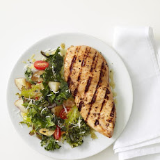 Grilled Chicken With Roasted Kale