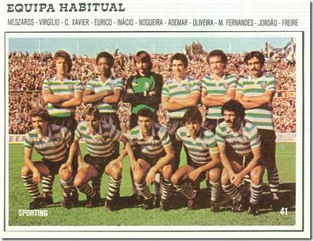 sporting equipa 1982 santa nostalgia