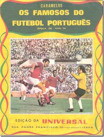 os famosos do futebol portugues universal 75_76 capa sn