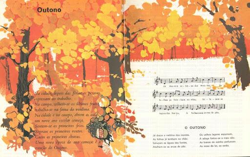 Outono escreve-se com maiúscula, «Livro de Leitura da Segunda Classe.