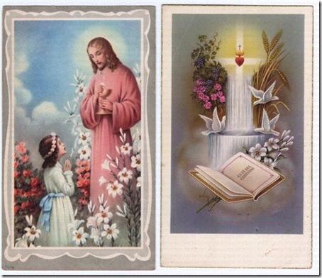 santinhos comunhao solene santa nostalgia