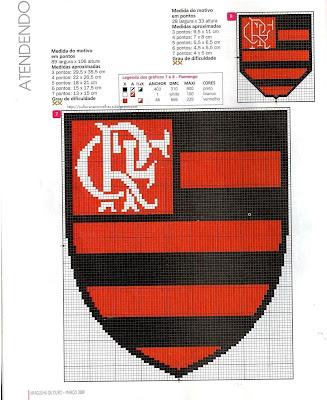 Gr  Fico De Ponto Cruz   Flamengo Hexacampe  O