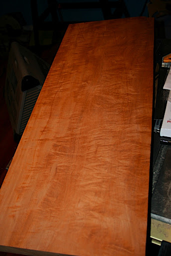 Figured South American mahogany. This will be made into two one-piece bodies.