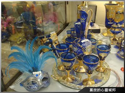 義大利威尼斯雙寶-水晶玻璃藝品與面具