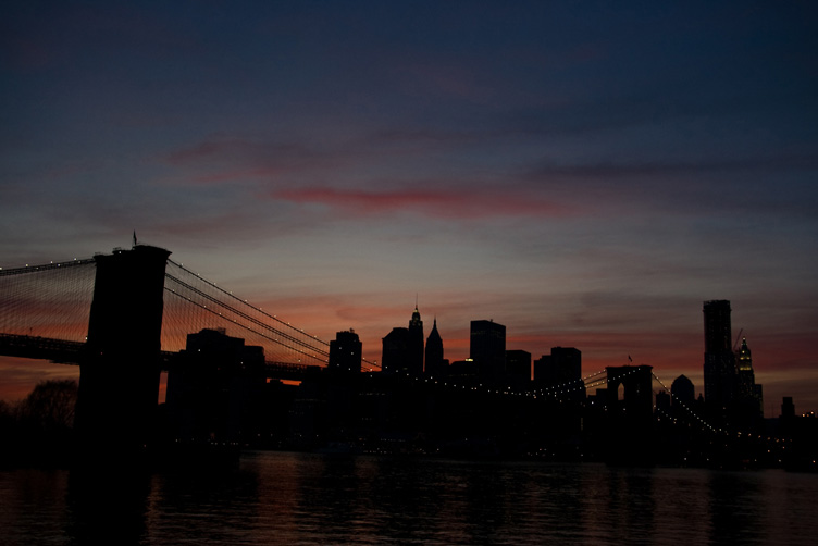 Brooklyn Bridge in the dusk
