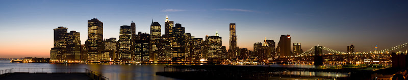 Night Scenery of Lower Manhattan
