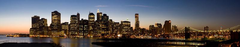 Night Scenery of Lower Manhattan