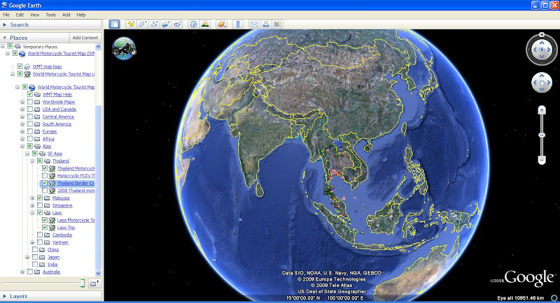 screen shot of wmt map from google earth v50 earth view