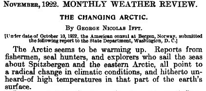 Haase While The Global Cooling Warming Debate Started In 1920s Didnt Start Selling Hard Until 70s