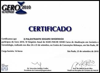 Certificado Gero