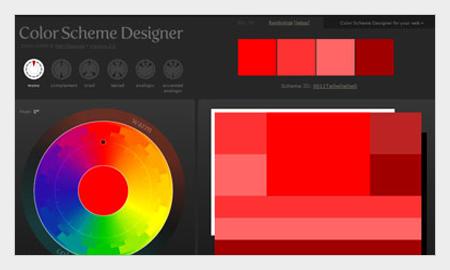 tips pemilihan warna untuk desain grafis menggunakan color sceme designer
