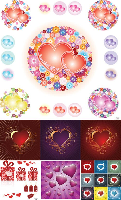 Free Valentine Day Hearts Vector