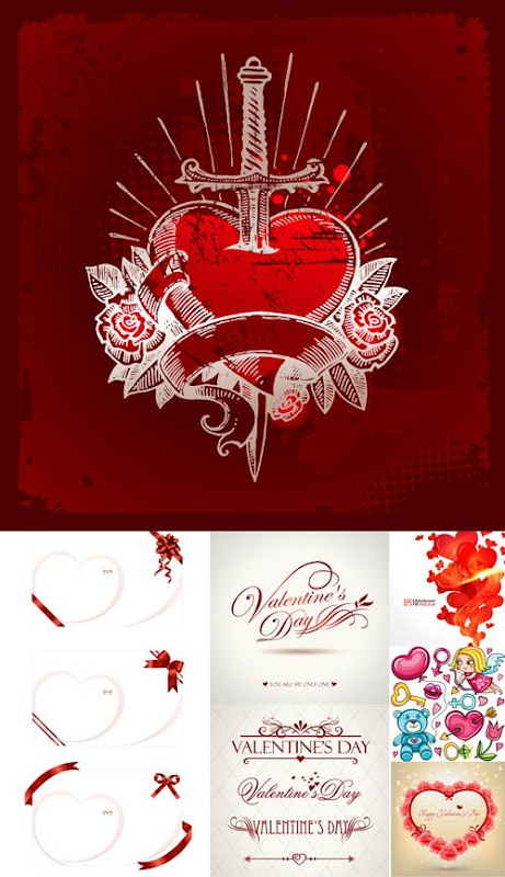 Free Download Valentine's Day Heart Packs