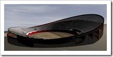 Alzado virtual en tres dimensiones del futuro centro multifuncional.