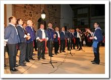 Las voces masculinas cantan a pleno pulmón la folía de la composición, durante la actuación del pasado año.