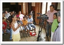Algunos de los niños saharauis que este pasado verano residieron en Almodóvar del Campo.
