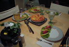 Christmas eve quiche supper - AG lettuce, vinca