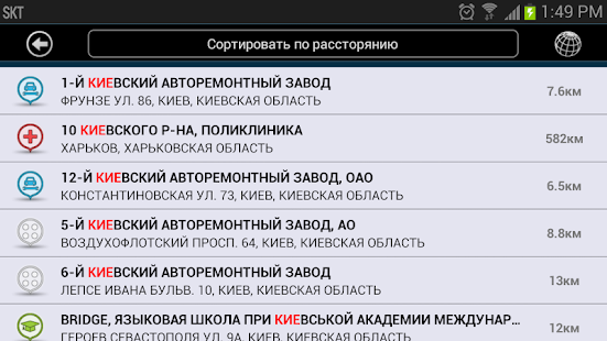 E2M Карт Бланш Украина: GPS Screenshot