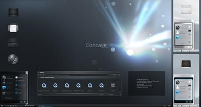 Concave,windows style xp theme download,xp佈景主題vista,visual styles,xp佈景主題教學下載,桌面改造,桌面美化,破解xp佈景主題限制