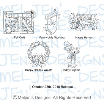 Meljens Designs October 28th Release Display