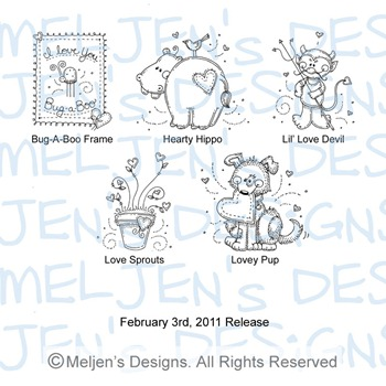 Meljens Designs February 3rd Release Display