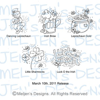 Meljens Designs March 10th Release Display