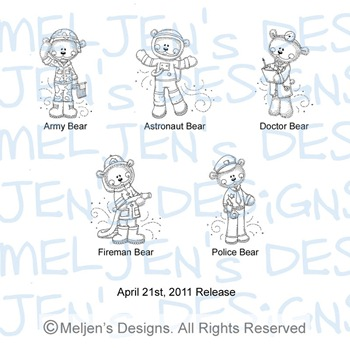 Meljens Designs April 21st Release Display