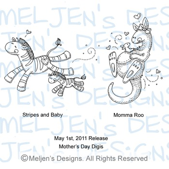 Meljens Designs May 1st Release Display (Mother's Day)