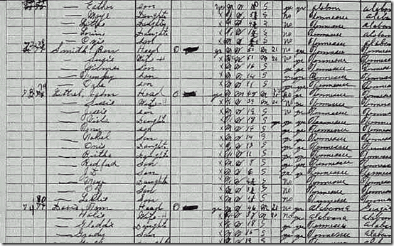 1930 Census Littrell J n Ben Smith