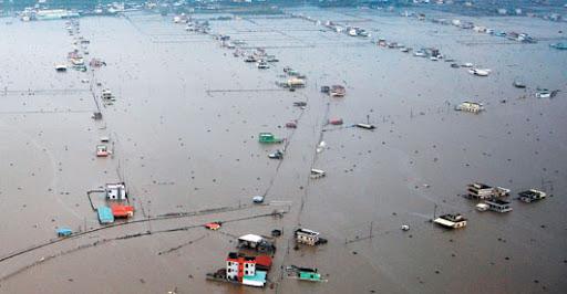 屏東縣林邊鄉是莫拉克颱風重災區之一,全鄉盡成水鄉澤國。