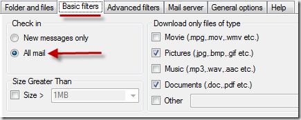 Mail-Attachment-Downloader-Basic-Filter