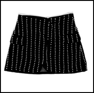 Alexander Wang Velvet Skirt With Pearls