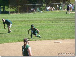 Annalise makes a nice grab in the outfield
